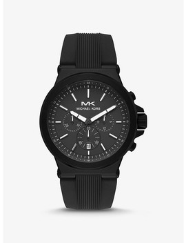 Oversized Dylan Black Tone And Silicone Watch by Michael Kors