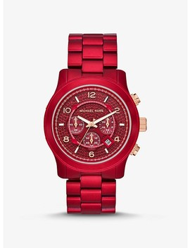 Oversized Runway Coated Stainless Steel Watch by Michael Kors