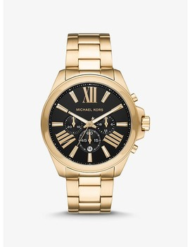 Oversized Wren Gold Tone Watch by Michael Kors