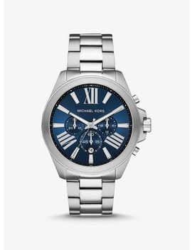 Oversized Wren Silver Tone Watch by Michael Kors
