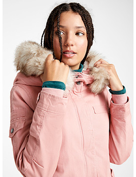 Faux Fur Hood Utility Parka by Only