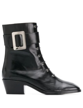 Buckle Detail Ankle Boots by Dorateymur