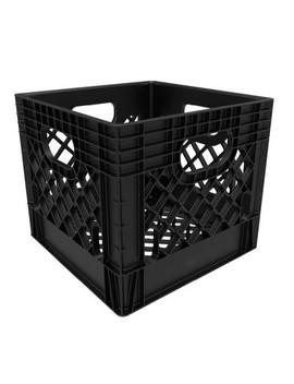 16qt Industrial Milk Crate Black   Rehrig Pacific Company by Rehrig Pacific Company