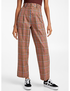 Buttoned Puchy Check Pant by Twik