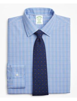 Milano Slim Fit Dress Shirt, Non Iron Glen Plaid by Brooks Brothers