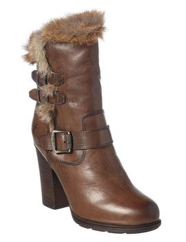 Frye Penny Luxe Moto Leather Bootie by Bluefly