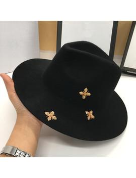 New Winter Wool Sir Hat Joker British Men And Women Fashion Felt Hat Panama Han Edition by Ali Express.Com
