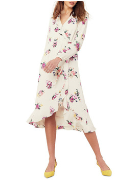 Garden Chiffon Sleeved Midi Dress by Oasis