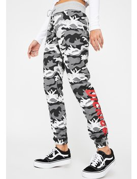 Grey Camo Skinny Joggers by Dickies Girl