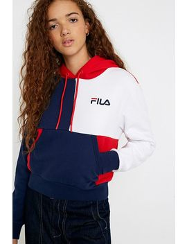 Fila Uo Exclusive Anna Contrast Cropped Hoodie by Fila