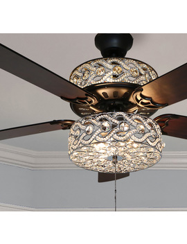 "River Of Goods 52"" Luxe Enlaced Crystal Led Ceiling Fan With Remote by River Of Goods"
