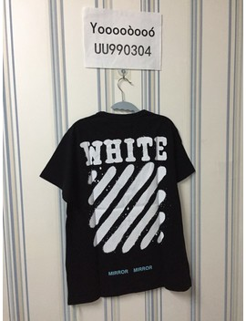 Brand New 17ss Black Tee by Off White  ×