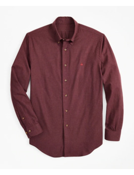 Regent Fit Brushed Flannel Sport Shirt by Brooks Brothers
