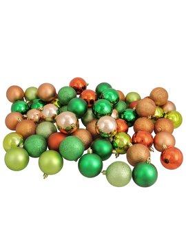 Almond/Kiwi/Burnt Orange Shatterproof Christmas Ball Ornament by The Holiday Aisle