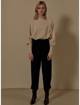 Herringbone Loose Fit Pants Sw9 Wp014 23 by Loeuvre