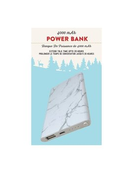 Slim Power Bank Marble by Cj Global