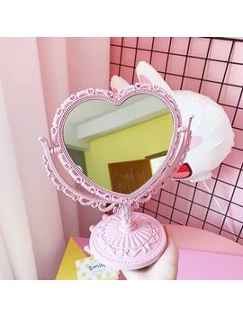 Olsin   Heart Shaped Desktop Mirror by Olsin