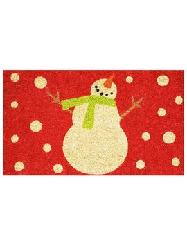 Snowman 29 In. X 17 In. Non Slip Outdoor Door Mat by The Holiday Aisle
