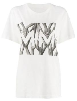 Logo Hand Print T Shirt by Mm6 Maison Margiela