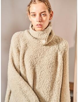 Teddybear Turtleneck Knitwear Grey by Ouahsommet