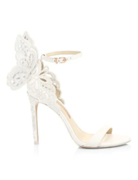 Chiara Butterfly Broderie Leather Sandals by Sophia Webster