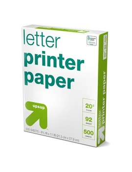 500ct Letter Printer Paper White   Up&Up™ by Up&Up