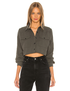 Holly Button Up Shirt In Olive Green by Superdown