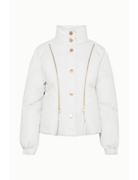 Zip Detailed Shell Down Jacket by See By Chloé