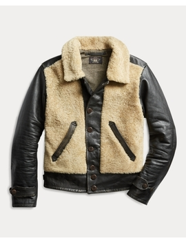 Shearling Leather Moto Jacket by Ralph Lauren