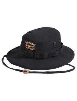 Rothco Vietnam Veteran Boonie Hat   Black, 7 1/4 by Walmart