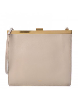 Celine Smooth Calfskin Mini Clasp Bag Beige by Celine