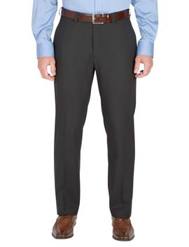 Straight Fit Non Iron Windowpane Dress Pants by Haggar