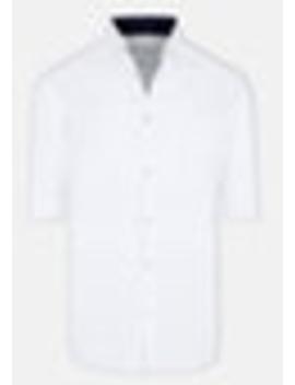 White Portofino Slim Casual Shirt by Connor