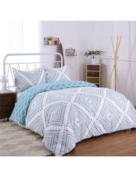 3 Piece Bedding Printed Duvet Cover Set Wrinkle Resistant,King Size Includes 2 Pillowcase by Online