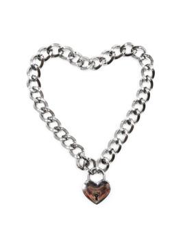 Dream Bell Fashion Women Punk Cool Neck Collar Slave Game Pet Heart Shape Padlock Metal Choker Necklace by Ali Express.Com