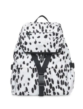 Logo And Dalmatian Print Nylon Backpack by Burberry
