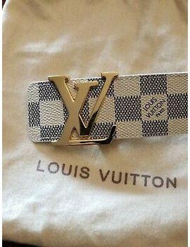 Louis Vuitton Mens Damier Azur Lv Belt 100/40 by Louis Vuitton