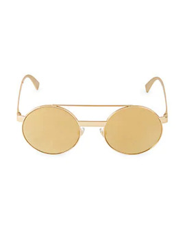52 Mm Mirror Aviator Sunglasses by Versace