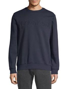 Logo Cotton Blend Sweatshirt by Calvin Klein