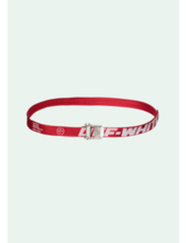 Red Mini 2.0 Industrial Belt by Off White