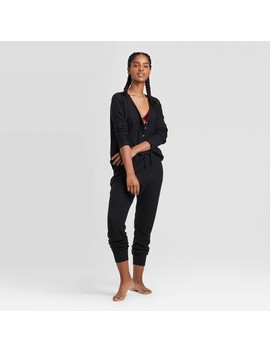 Women's Thermal Lounge Top   Colsie™ Black by Colsie