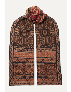 Intarsia Wool Blend Scarf by Etro