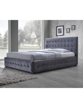 Baxton Studio Margaret Modern And Contemporary Grey Velvet Button Tufted Platform Bed, Multiple Sizes by Baxton Studio