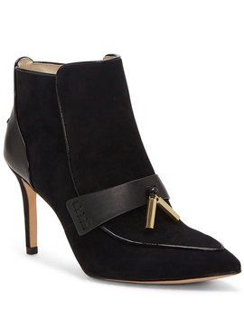 Shiro Suede Tassel Stiletto Booties by Louise Et Cie