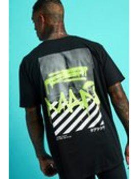 Oversized Man Graffiti Paris Print T Shirt by Boohoo Man