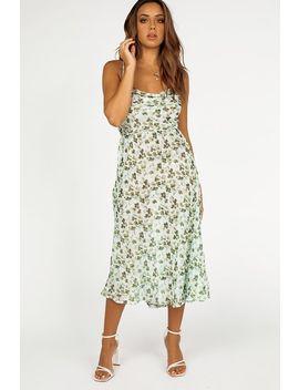 Giselle Floral Cowl Slip Midi Dress by Dissh