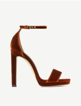 Misty 120 Velvet Heeled Sandals by Jimmy Choo