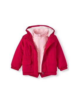 Wonder Nation Toddler Girl 3 In 1 Systems Jacket Coat by Wonder Nation