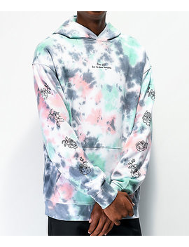 Empyre Prose Blue &Amp; Pink Tie Dye Hoodie by Empyre