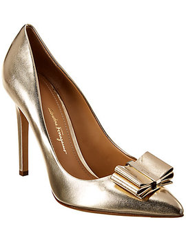 Salvatore Ferragamo Zeri Metallic Leather Pump by Salvatore Ferragamo